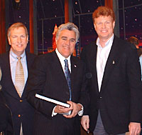 Paul Glessner with Jay Leno