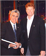 Jay leno and Paul Glessner